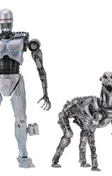 NECA ROBOCOP VS THE TERMINATOR ENDOCOP AND TERMINATOR DOG AF 2PK